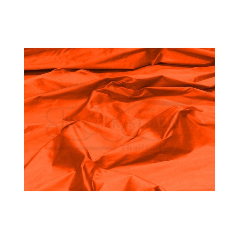 Orange red S254 Silk Shantung Fabric