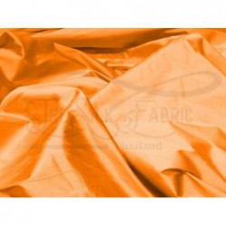 Safety orange S257 Silk Shantung Fabric