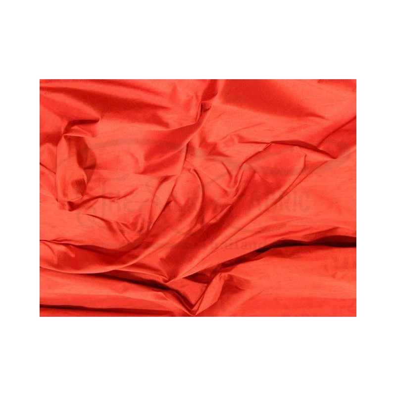 Sunset Orange S258 Silk Shantung Fabric