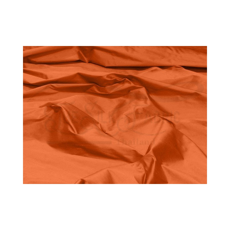 Rust S336 Silk Shantung Fabric