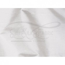 White off S434 Silk Shantung Fabric